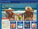 screenshot of Caliente Resorts - Clothing Optional Resorts