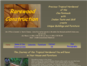 screenshot of Rarewood Construction - Homes and Furnniture - Osa Peninsula