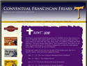 screenshot of Conventual Franciscan Friars - Immaculate Conception Province