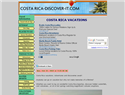 screenshot of Costa Rica Vacations. Rafting, Scuba Dive, Fishing